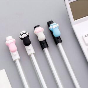 6pcs Kawaii Cat Paws Black Gel Ink Roller Ball Point Pen Korean School Kids Pens