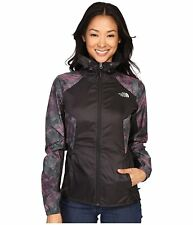 Women's The North Face Flyweight Hoodie TNF Black/Green Rock Camo Print Size S