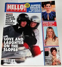 Hello Canada Magazine #168 Double Issue April 12 2010 Prince William and Kate