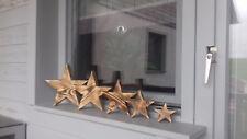 Deko Sterne, Holz Stern, Weihnachts Sterne, Fichte massiv, geflammt