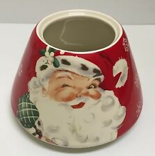 ❤WINKING SANTA CLAUS FIGURE RED CHRISTMAS HOLIDAY JAR CANDLE COVER SHADE TOPPER❤