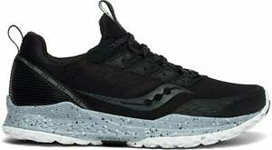 Saucony Men's Mad River TR Running Shoe, Black, 9 D(M) US