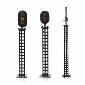 5pc HO Scale 1:87 Traffic Signal Lights Model 12V Led DIY Simulation Light Train