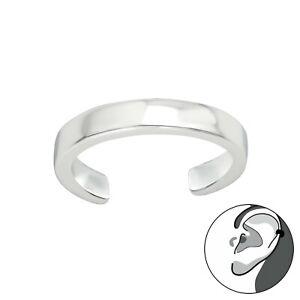 925 Sterling Silver Plain Design Ear Cuff (Design 20)