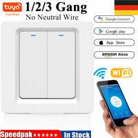 1/2/3 Gang TUYA WiFi Smart Touch Switch 220-240V Home Wall Button for Alexa DE