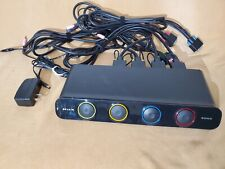 Belkin 4-Port Soho Kvm Switch F1Dh104L with Vga + Usb cables and Ac adapter