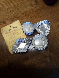 Lot of 23 Fluted Mini Tart Tins Dessert Molds Made in Sweden