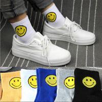 Unisex Socks Warm Cool Casual Fashion Cotton Smile Stripe Ankle Sports Socks