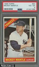 1966 Topps #50 Mickey Mantle New York Yankees HOF PSA 4 VG-EX