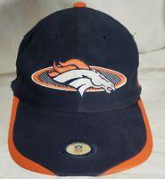 Denver Broncos Hat Vintage Sports Specialties Snapback NFL Pro Line Blue Orange