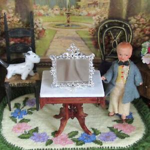 Dollhouse Soft Metal Mirror Vintage or Antique German Miniature