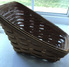 Longaberger Wine Vegetable Sleigh Basket W/ Plastic Liner