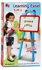 Lavagna Magnetica per Bambini con Gessi Magneti Accessori Clip per Carta 3 in 1