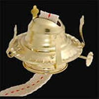 One Kerosene Oil Lamp Burner  #2 Size New Polished Brass Plated