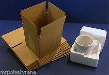 100 SINGLE WALL CARTONS + 100 POLYSTYRENE FOAM MUG PACKS