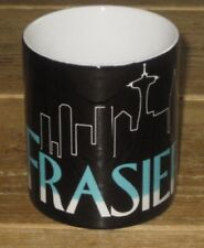 Frasier Pretentious 13 ounce large White black Coffee cup mug pop culture NEW