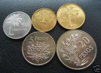 GUINEA BISSAU 50 C - 20 Pesos 1977 5 Coins UNC Set FAO