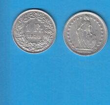 § Suisse Swiss Confédération Helvétique 1 Franc en argent 1928 Exemplaire N° 2