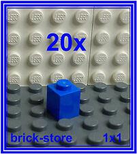 LEGO 20 piezas / Azul / 1x1 Bloques básicos de Construcción Piedras