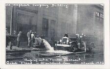 Postcard Connecticut Hartford 1936 Flood Telephone Bldg Pumping Basement MINT