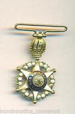 BRAZIL RARE IMPERIAL ORDER OF THE ROSE PEDRO I 1829 MEDAL MINIATURE GOLD RARE !!