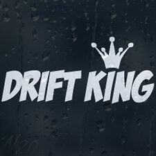 Drift King Racing Car Window Windscreen Body Panel Laptop Decal Vinyl Sticker
