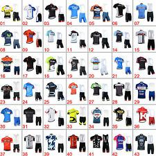 Mens Cycling Outfit Jersey Bib Shorts Kits Short Sleeve Shirt Brace Trousers Set