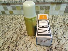 UNUSED MINT 1960'S ENGLAND GOLD LUNCHBOX THERMOS FLASK NOS