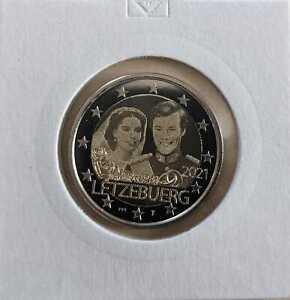 Luxemburg  2 Euro 2021  40. Hochzeitstag von Henri  Fotoversion Nur 2.500 Stück!