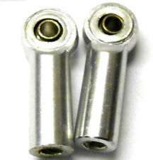L4257 1/10 Scale M4 4mm Track Rod Ends x 2 Silver Anti-Clockwise Left Thread
