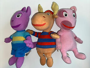 Ty Backyardigans  Set Lot of 3 Plush NO HANG TAGS Stuffed animals