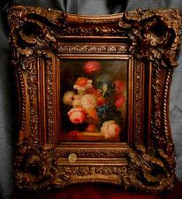 still life flowers - Ancien tableau nature morte - Lawrence BECKER?