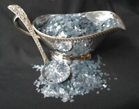 "2 CUPS of Mica Flakes - Vintage Mica -  Glacier Blue - Approx 1/4"" Size"