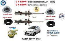 Per Mazda 2 2007-2015 2X Set AMMORTIZZATORE ANTERIORE + Montaggio Superiore + KIT CUSCINETTO