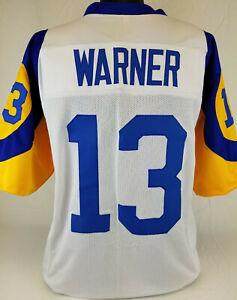 Kurt Warner Unsigned Custom Sewn White/Yellow Football Jersey Size - L, XL, 2XL