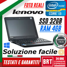 "PC NOTEBOOK PORTATILE LENOVO THINKPAD X121e 11,6"" CPU AMD RAM 2GB SSD 32GB WIN10"