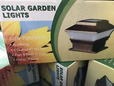 NEW! - 2 Solar LED Copper - Outdoor Deck Fence Pathway - Post Lights - 4 x 4
