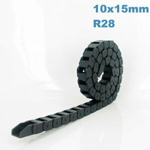 10x15mm R28 Nylon Energy Drag Chain Cable Wire Carrier CNC Router 3D Printer Mil