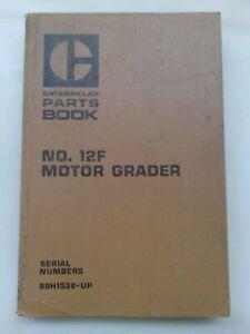 Caterpillar 12F Motor Grader parts manual. Genuine Cat book.