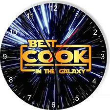 Best Cook in the Star Galaxy Wars Space Kitchen Living room Wall Clock