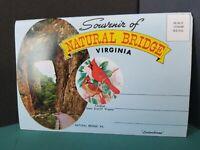 Vintage FoldOut Postcard View Book Natural Bridge SOUVENIR 1960-70s #140