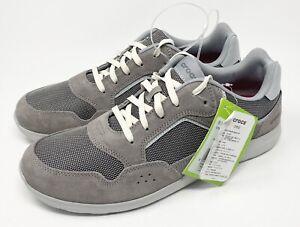 Crocs Kinsale Pacer Sneaker Shoes Men's Size 13 Charcoal/Pearl White NEW