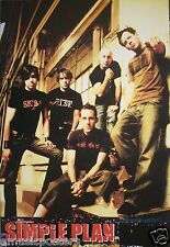 "SIMPLE PLAN ""GROUP STANDING TOGETHER IN AN OLD FACTORY"" POSTER FROM ASIA"