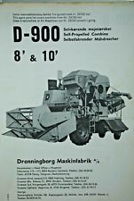 Original 1974 DRONNINGBORG Spare Parts List For Model D-900 Combine Harvester