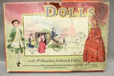 Vintage Williansburg 1940 Paper Doll Set