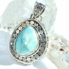 Larimar atlantis remolque 5 real 925 plata pendant Blue genuine unique única