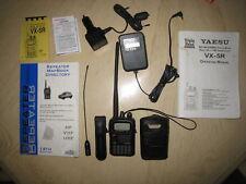 Yaesu VX-5R HT, Tri band, 6M, 2M 440 Mhz, w/ Case, Guides, Comet Antenna, More!