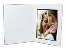 Cardboard Photo Folder For a 5x7 Photo (Pack of 50) GS001 White Color