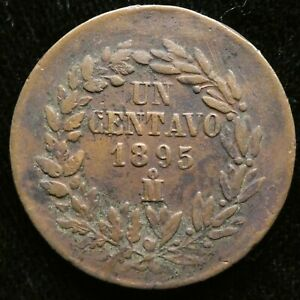 1895 Mexico 1 Centavo XF  KM 391.6