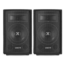 "2x Vonyx 8"" Portable Passive PA DJ Party Sound System Bedroom Speakers 400W"
